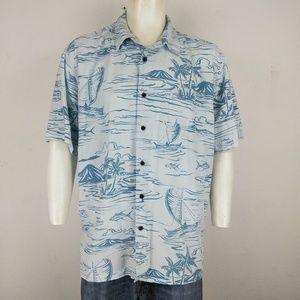 Quiksilver light blue comfort fit men's shirt